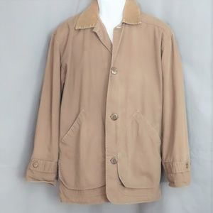 Khaki J. Crew Flannel Lined Jacket-XS